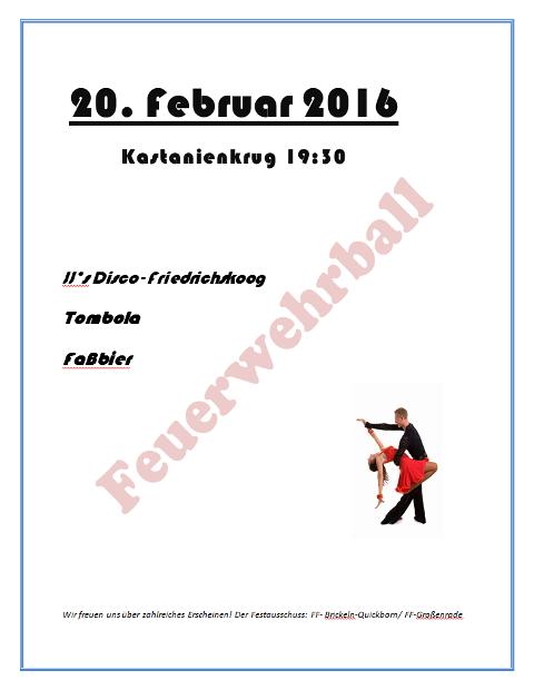 Plakat Feuerwehrball 16b